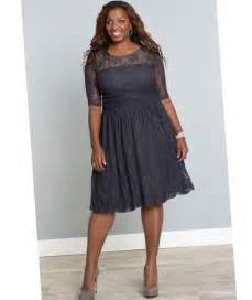 Garden Party Formal Dress - sheer plus size dress pluslook eu collection