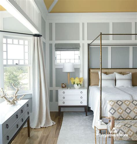 gray walls contemporary bedroom benjamin moore how to paint wood paneling for a contemporary bedroom with