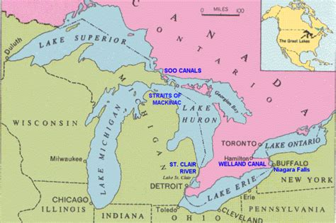 the great lakes map great lakes map american lakes waterways great lakes maps and lakes