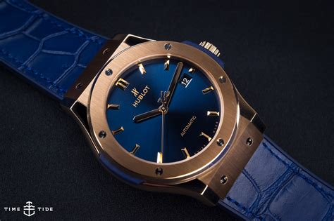 hublot classic fusion king gold blue on review