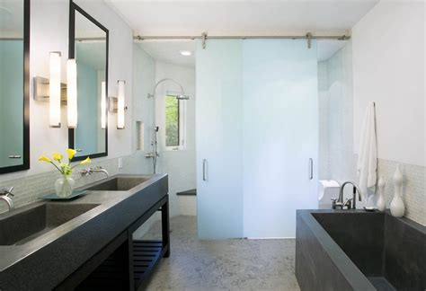 bathroom photo frosted modern glass shower sliding door sustainable pals stylish frosted glass interior doors design ideas home