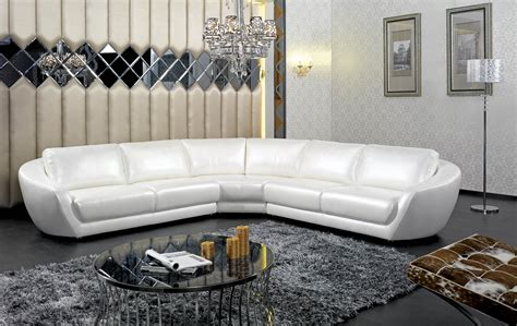 white italian leather sectional sofa modern italian white pearl leather sectional sofa