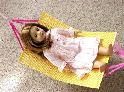 Doll Hammock by American Doll Play Doll Craft Make Your Doll A Hammock