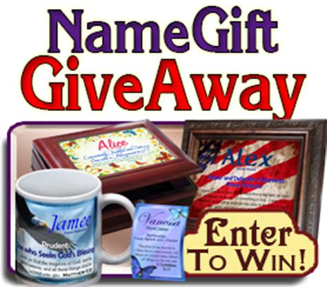 Giveaway Meaning - enter our free giveaway to win a free name meaning coffee mug or bookmarks