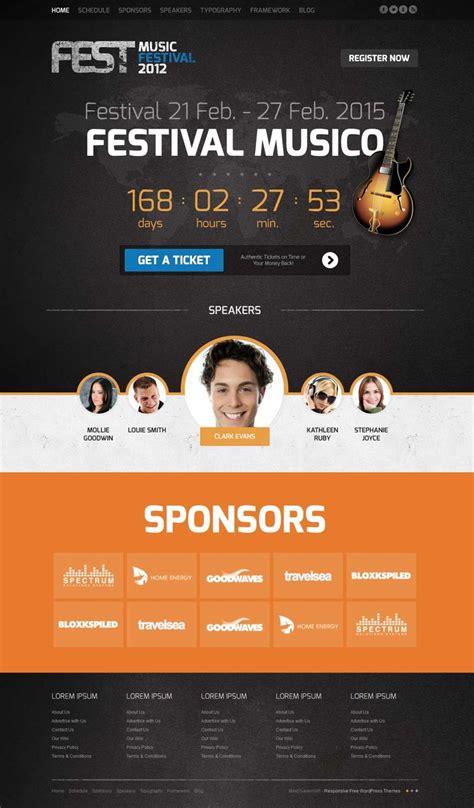 fest joomla template to promote music events conferences