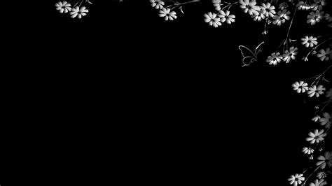 wallpaper black simple black background with flowers wallpaper