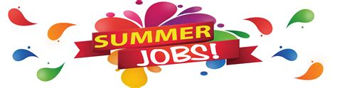what are the different types of summer jobs with pictures