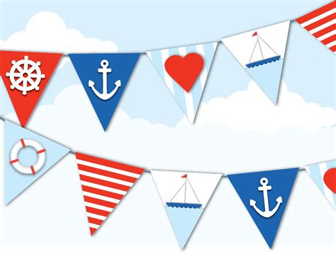 nautical garland ahoy it s a boy baby boy baby shower