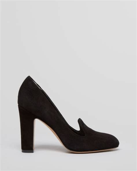 high heel loafer pumps via spiga loafer pumps high heel in black