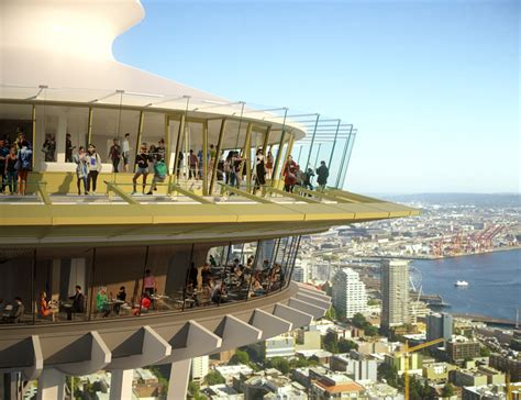 seattle space needle includes glass floors for dining