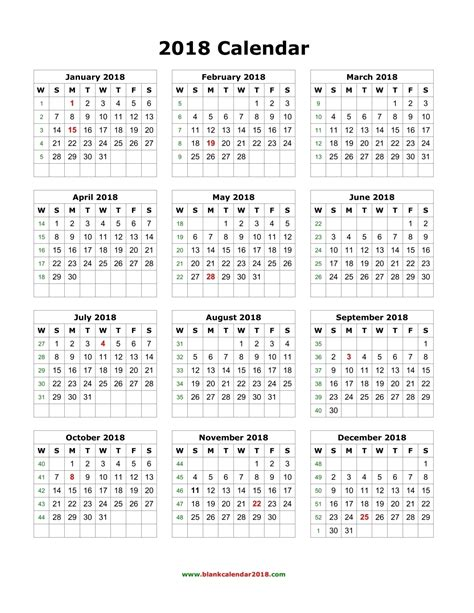 2018 printable yearly calendar tempss co lab co