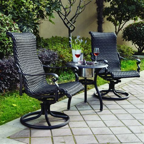 aluminum wicker patio furniture patio furniture wicker aluminum rocker swivel chair set 2