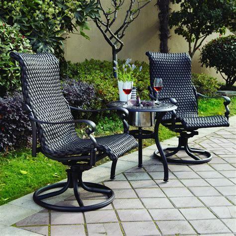 Patio Furniture Wicker Aluminum Rocker Swivel Chair (Set/2