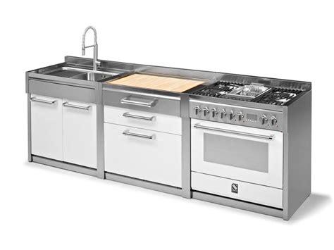 doppio lavello cucina genesi modulo cucina con lavello doppio by steel