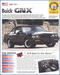 1987 Buick Grand National Engine Specs Buick Grand National Pictures And Specifications