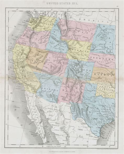map of western us file 1864 dower map of the western united states geographicus westernusa dower 1864 jpg