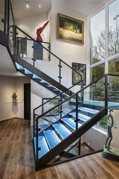 featured project a custom designed glass staircasei