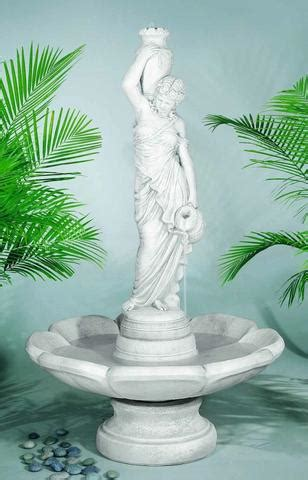 beautiful outdoor garden water fountains  women statues