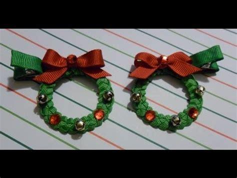 how to make christmas ribbon sculpture wreath ribbon sculpture hair clip bow braid diy free tutorial by