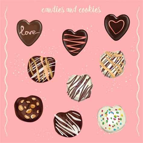 candies and cookies candies and cookies vector free