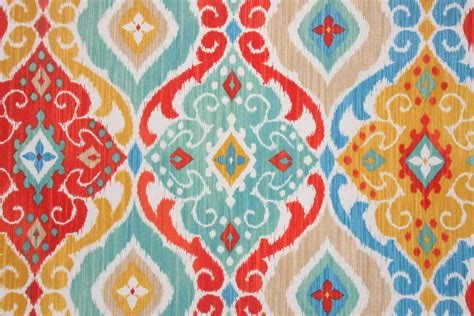 Drapery Designer Richloom Solarium Fresca Printed Poly Outdoor Fabric In Fiesta