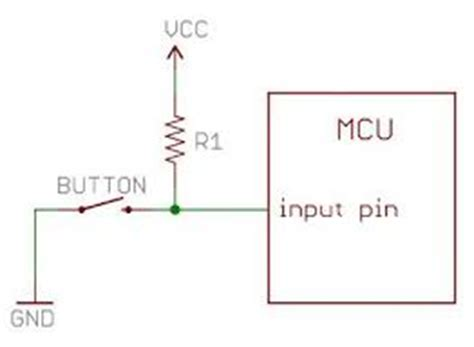 how to set up pull resistor resistors avr switch best practice electrical engineering stack exchange