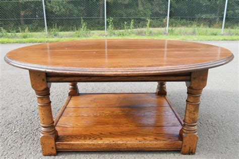 Large Round Oak Coffee Table Sold Large Oak Coffee Tables