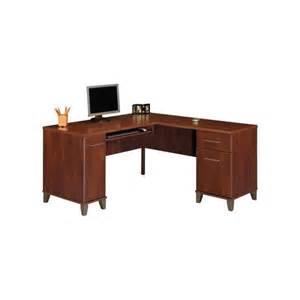 somerset 60 quot l shape wood desk in hansen cherry wc81730k