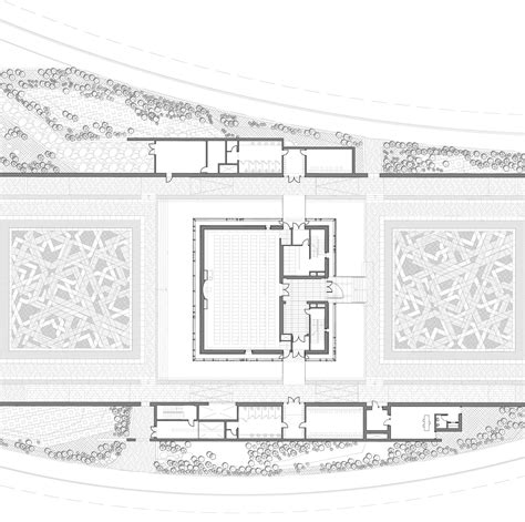 floor plan of a mosque kapsarc mosque hok archdaily