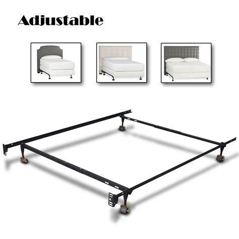 brand new metal bed frame adjustable size w roller heavy duty ebay