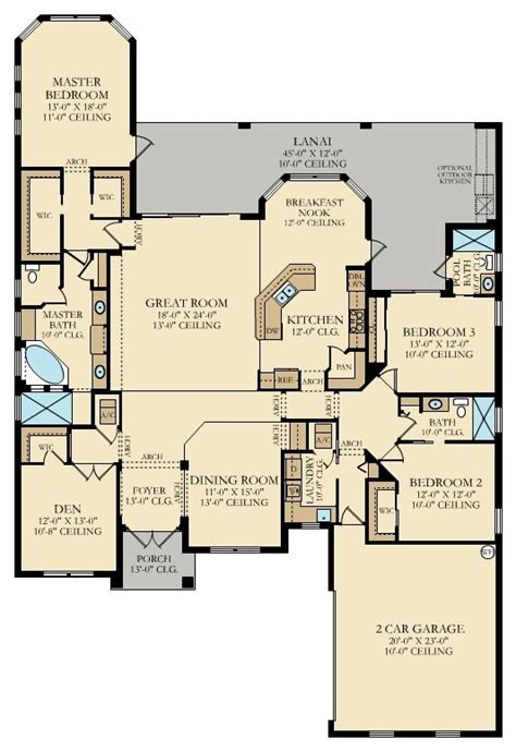 old lennar floor plans bougainvillea ii new home plan in treviso bay classic