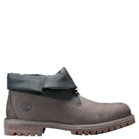 timberland roll top boots mens s timberland 174 fabric panel roll top boots timberland