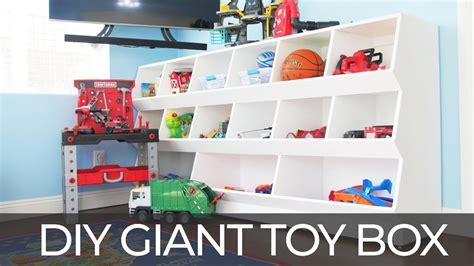 build  diy giant toy box  downloadable plans