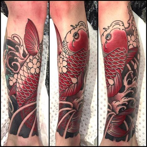 tattoo expo today the koi piece i was working on yesterday alex rusty