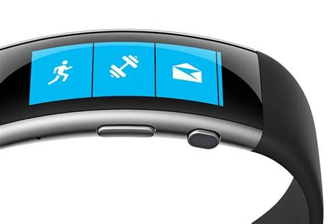 Microsoft Band 2 microsoft band 2 fitness tracker with curved screen