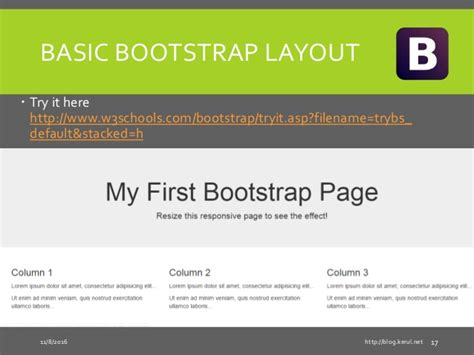 basic layout using bootstrap html5 bootstrap mobirise