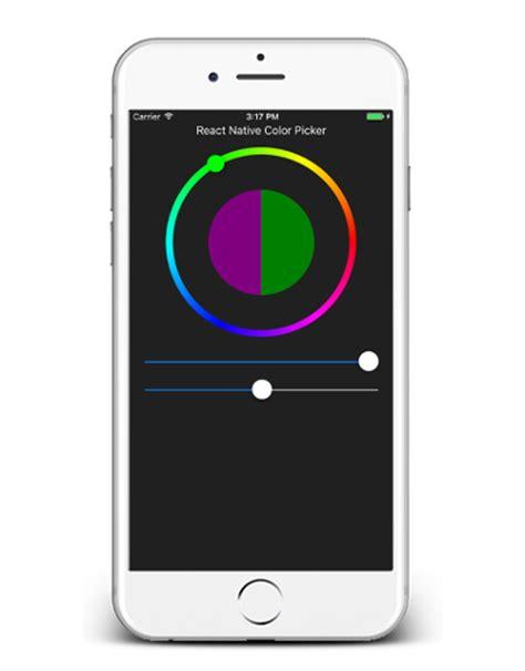 ios color picker color picker component for ios android reactscript