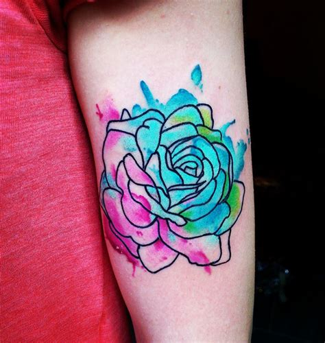 rose tattoo watercolor tattoo watercolour abstraktart t