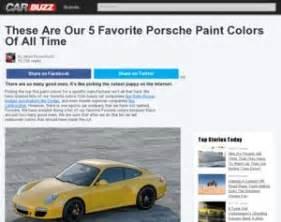 Porsche Paint Colors Porsche These Are Our 5 Favorite Porsche Paint Colors Of