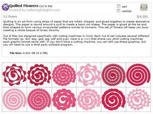 cricut templates quilled flower templates svg cricut flower