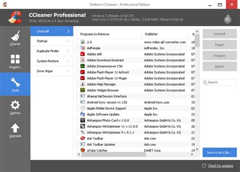ccleaner gratis download ccleaner professional t 233 l 233 charger