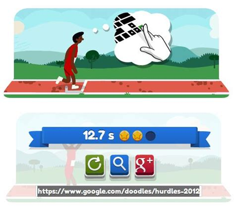doodle hurdles s doodle dedicated to hurdles 2012 play now