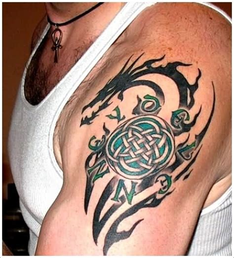 celtic tribal shoulder tattoos celtic images designs