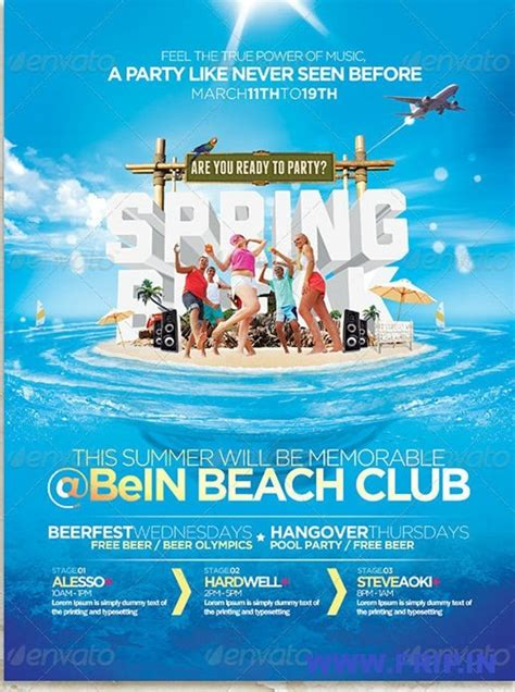 template flyer beach free premium psd beach party flyer template