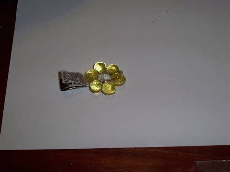 Nns 03 Ns Ribbon Top ambering along melted bead flower barrettes