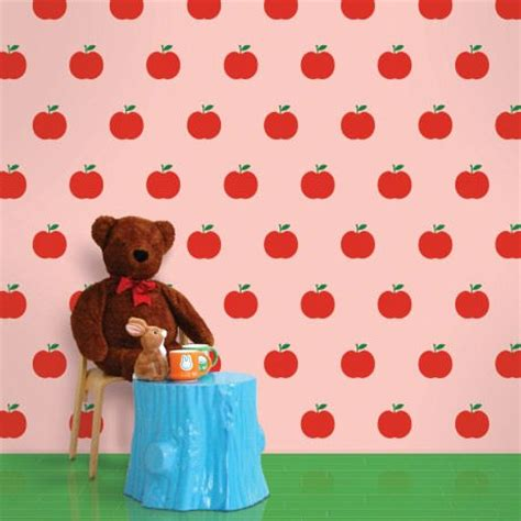 apple wallpaper kitchen red and pink apple peel and stick wallpaper
