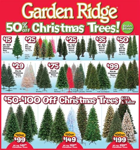 garden ridge  christmas trees    deals