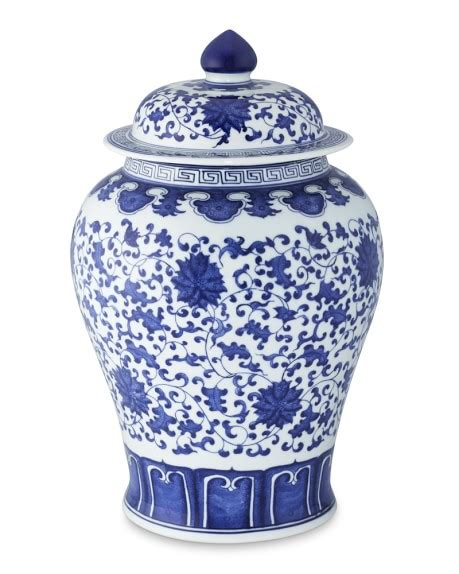 blue and white ginger jars blue white ginger jar with lid 16 quot urn williams sonoma