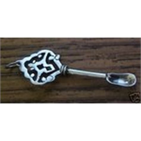 vintage sterling snuff coke spoon necklace pendant 01