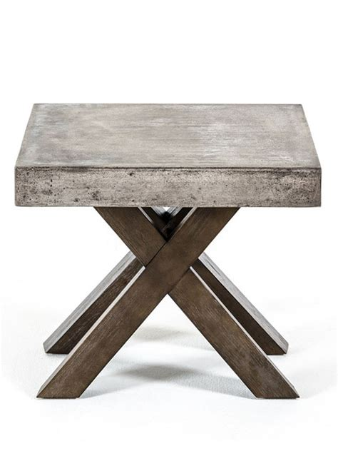 concrete top end table concrete end table modern furniture brickell collection